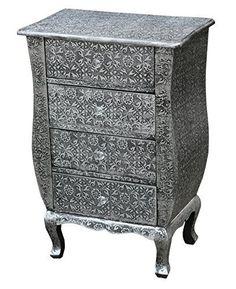 Blackened Silver Metal Embossed 4 Drawer Bedside Cabinet, http://www.amazon.co.uk/dp/B01G5Q7CQM/ref=cm_sw_r_pi_awdl_Xllwxb6PA6HYT