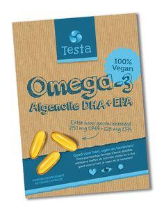 Testa Omega 3 - Vegan en plantaardige omega-3 DHA + EPA uit algenolie - 60…