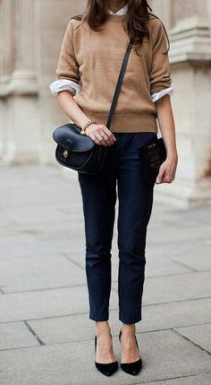 Casual fall outfit idea. | Fall Style