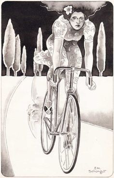 Promotional illustration by Emanuel Schongut. 1970s