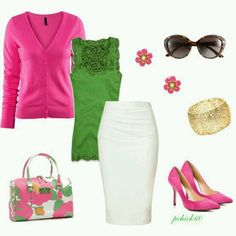I love pink and green together.