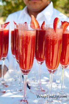 Strawberry Mimosas! Yum!