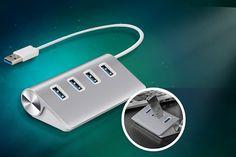 4-Port Aluminium USB Hub