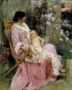 La Joven Madre. Arturo Michelena.