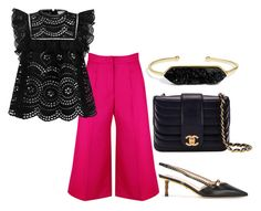 """""""Untitled #1574"""" by dora-caeiro ❤ liked on Polyvore featuring Zimmermann, Gucci, Chanel and BaubleBar"""
