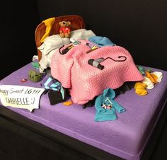 messy bedroom cake; this is cute!