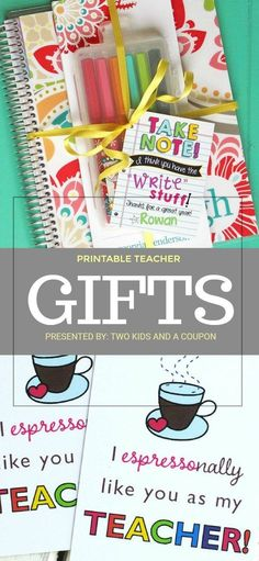 Looking for an easy and inexpensive gift to give your child's teacher for the end of the school year? These free printable teacher gifts are a perfect companion for many different gift ideas!