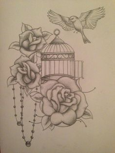Bildresultat för birdcage tattoos gallery