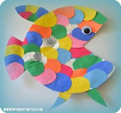 fishy paper plate