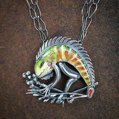 Just finished this iguana. Notice that I included the Fire Bush, which is the…