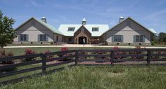 One-of-a-Kind Metal Horse Barn   Metal Building Homes