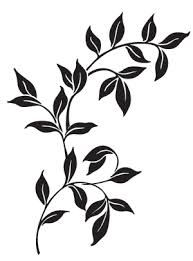 plant stencils - this one for a rug? maybe ferns.....hummm thinking starting