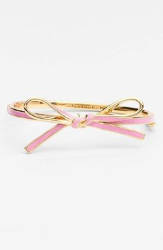 Oh my gosh, i think Kate makes the prettiest bows on anything by far...kate spade new york 'skinny mini' bow bangle available at #Nordstrom