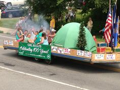 The Girl Scouts won first place in the float contest.