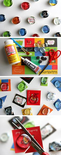 DIY Glass Magnets | Click Pic for 22 Easy to Make Mothers Day Gifts from Adults | DIY Birthday Gifts for Friends