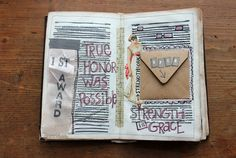 besottment by paper relics: More Old Book Journal Peeks & Spreads