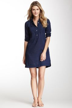 Woven Shirt Dress - with tights & boots, this would be a perfect autumn frock!