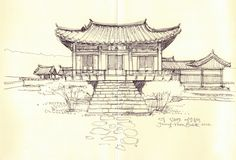Head Residence of iudang, Andong, Korea / sketch by Joungyeon, Bahk (Grid-A architecture) grid-a.net