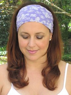 Purple Wide Headband by ColorOnMaterial on Etsy