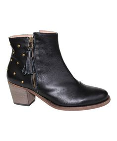 This Black Yuma Leather Bootie by Eric Michael by Laurevan is perfect! #zulilyfinds