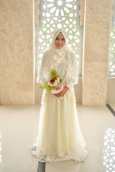 Congratulations on your wedding big sis!  Muslimah wedding dress