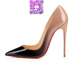 So Kate 120mm Nude Black Patent