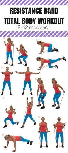 Grab a resistance band and get moving with this total-body workout.