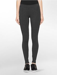 performance seamed cotton stretch leggings | Calvin Klein