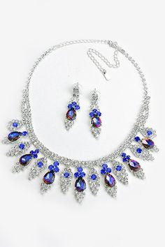 Crystal Andrea Necklace in Sapphire Vitrail on Emma Stine Limited
