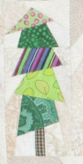 Christmas Flag Quilt, week 8 -- The free full-size foundations for this week -- trees 15R, 16 and 16R -- are available for download from the Quilters Newsletter website.