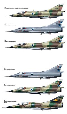 Mirages from Israeli Air Force.                                                                                                                                                                                 More