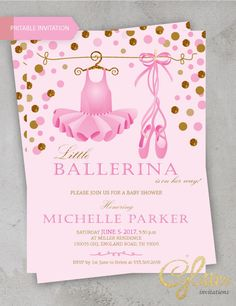 103 Best Ballerina Baby Shower Invitation Images In 2019