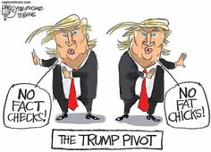 Best Donald Trump Cartoons: Trump Pivots