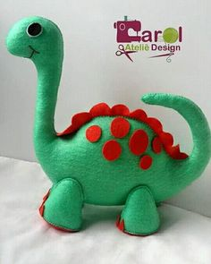 Felt Animal Patterns, Stuffed Animal Patterns, Felt Diy, Felt Crafts, Sewing Stuffed Animals, Sock Toys, Dinosaur Pattern, Fabric Toys, Dinosaur Birthday Party