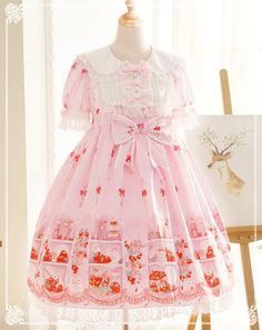 Bunny's Strawberry Kitchen Sweet Lolita OP Dress