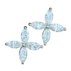 Pre-owned Tiffany & Co. Platinum & Marquise Diamond Earrings (12,960 CAD) ❤ liked on Polyvore featuring jewelry, earrings, gioielli, tiffany co jewellery, tiffany co earrings, preowned jewelry, diamond jewelry and pre owned jewelry