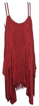 Free People Red Rust Joplin Tank By Dress $94