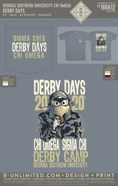 Sigma Chi x Chi Omega Derby Days Shirt | Fraternity Event | Greek Event #sigmachi #machi #sx #derbydays Sigma Chi, Derby Day, Greek Clothing, Chi Omega, Greek Life, Mixers, Social Events, Fraternity, Sorority