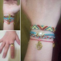 Assortiment de bijoux de la mer : bracelet et bague