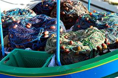 boat loaded with fishing tackle     http://bamboonets.com/netting-techniques-2/