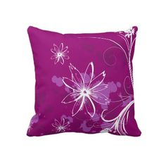 White Daisies on Purple Pillow