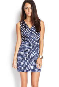 Dotted Surplice Dress | FOREVER21 #F21Contemporary