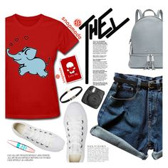 """Snapmade #1"" by anarita11 ❤ liked on Polyvore featuring Converse, Maybelline, MICHAEL Michael Kors, Fujifilm and Anja"