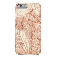 Vintage Boston Map Barely There iPhone 6 Case
