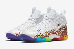 new concept 2b1cd ee5da Fruity Pebbles Foams Fruity Pebbles Shoes, Fruity Pebble Jordans, Nike  Foamposite, Nike Lebron