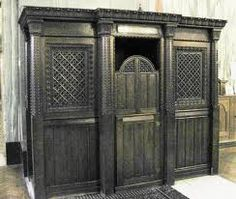 A Catholic Confessional. What a beautiful bit of decoration this will be! -M.