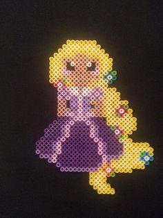 Rapunzel Perler Bead Figure by AshMoonDesigns on deviantART