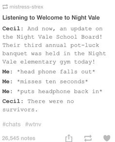 Sometimes you don't even need to miss seconds for this to happen. Welcome to nightvale.