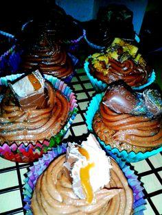 Chocolate Cupcakes (Crunchie, Caramel & Mars)
