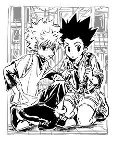 Hunter Anime, Hunter X Hunter, Black And White Art Drawing, Black And White Posters, Black Art, Black White, Photo Manga, Arte Indie, Hxh Characters